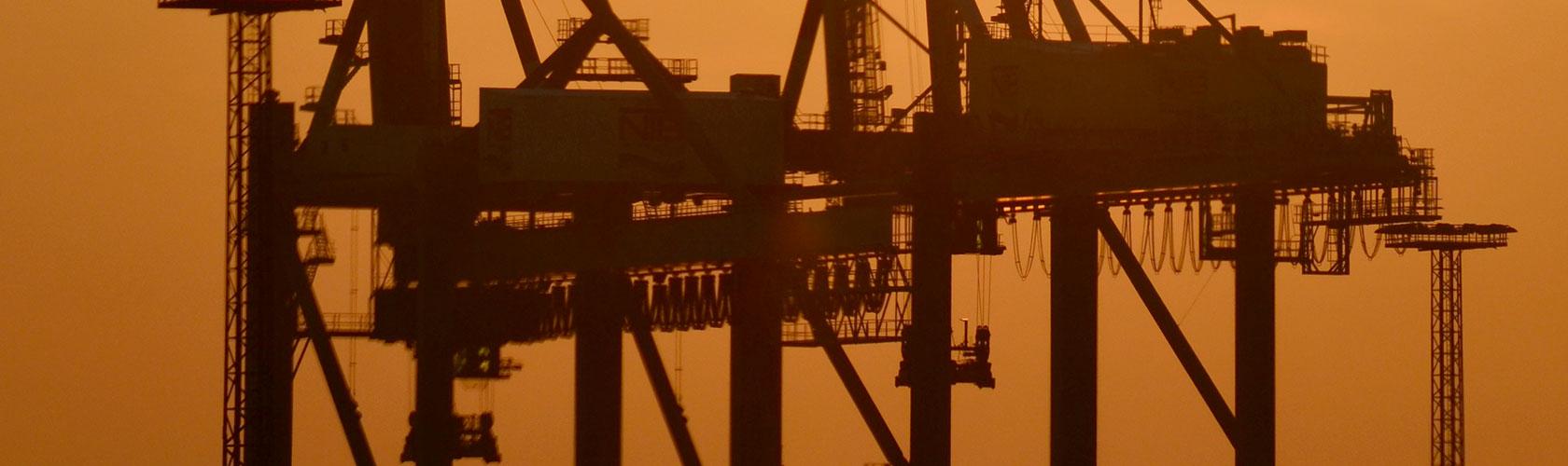 Hafensicherheit und Port Facility Beladekran