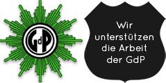 Wir unterstützen die Arbeit der GdP
